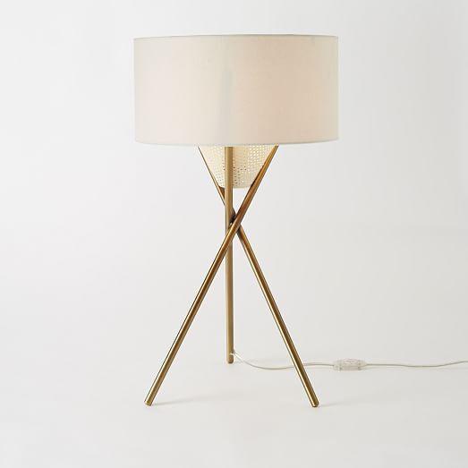 West Elm Mid Century Tripod Table Lamp