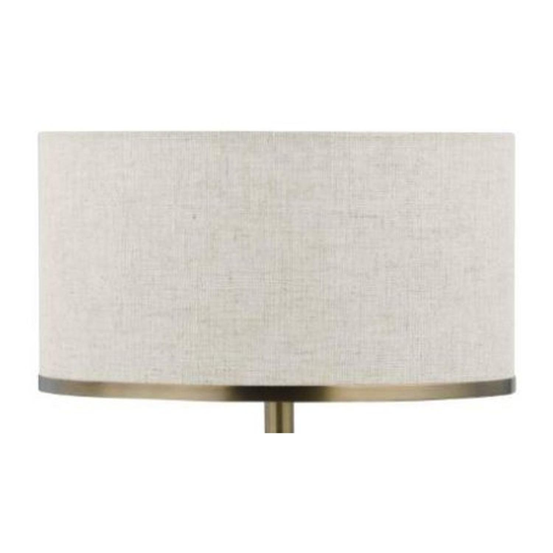 Modern Table Lamp w/ Chrome & Black Base - image-2