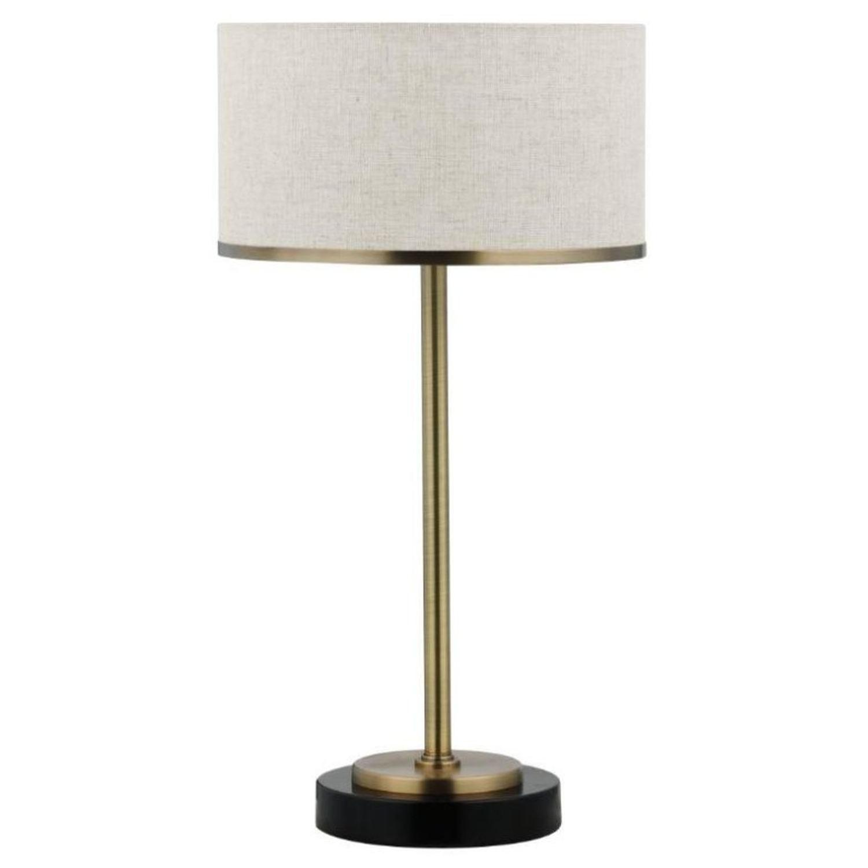 Modern Table Lamp w/ Chrome & Black Base - image-0