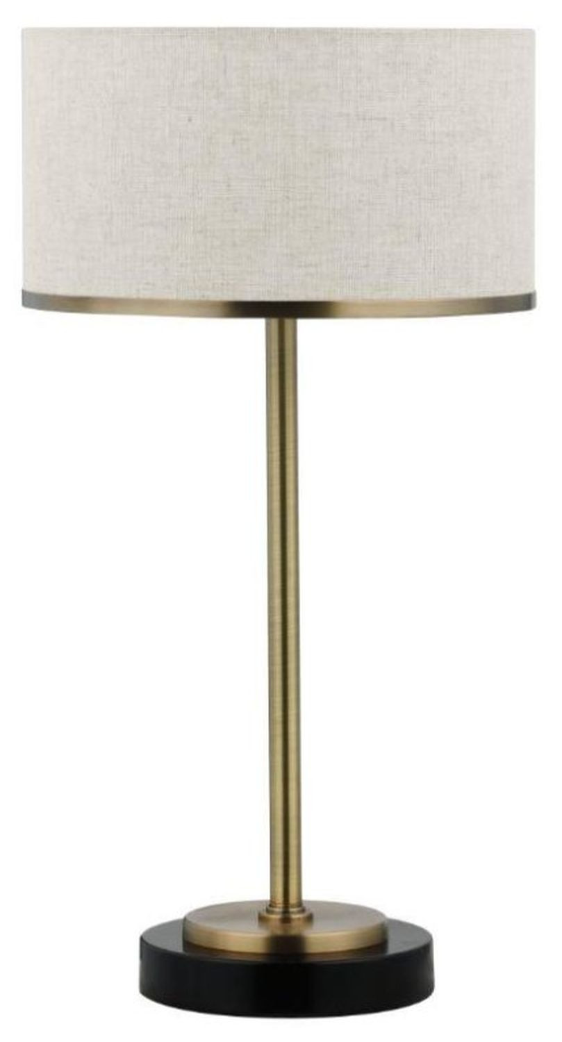 Modern Table Lamp w/ Chrome & Black Base