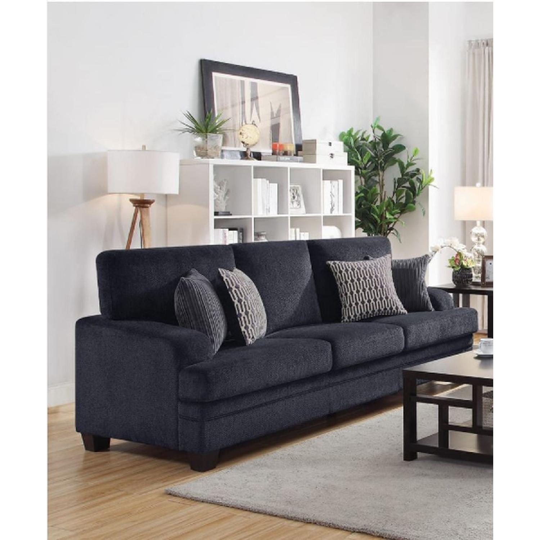 Casual Sofa in Grey Chenille Fabric