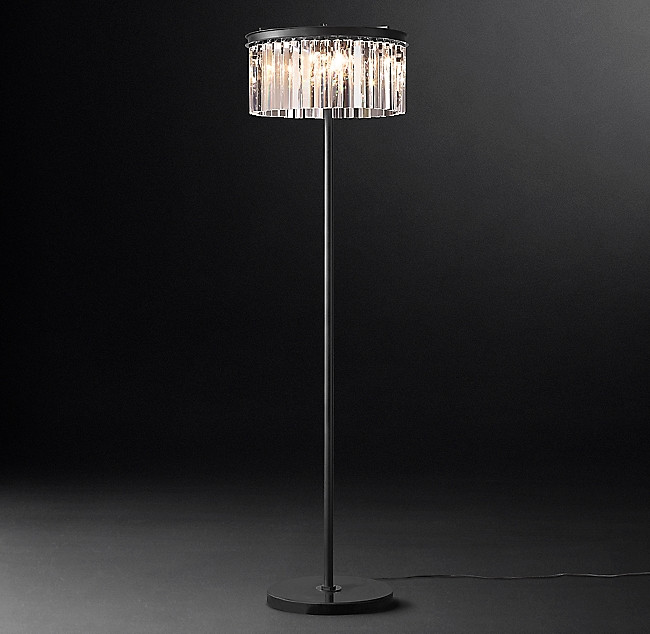 Restoration Hardware Rhys Glass Floor Lamp