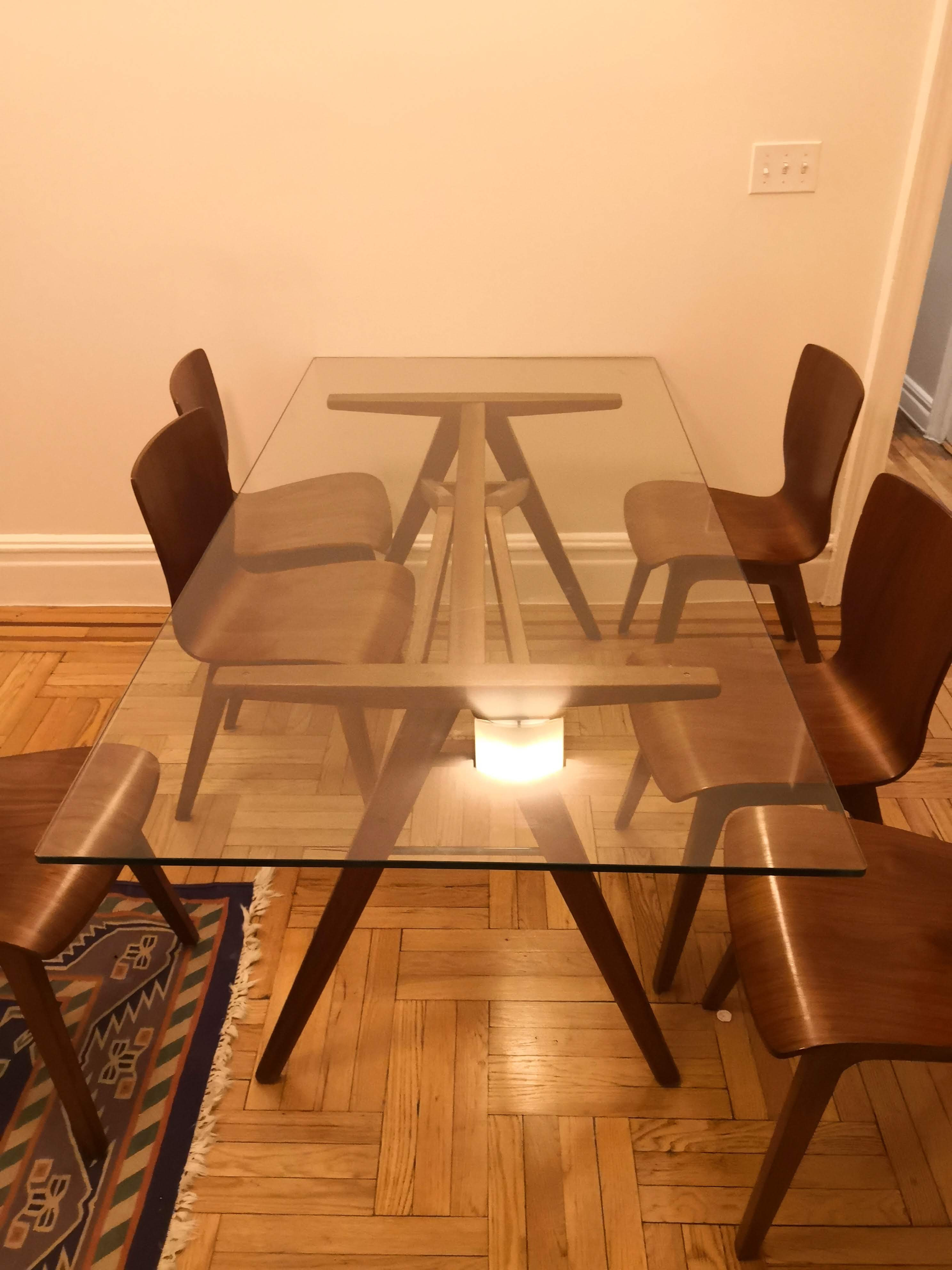 West Elm Mid Century Modern Table w/ 6 Chairs