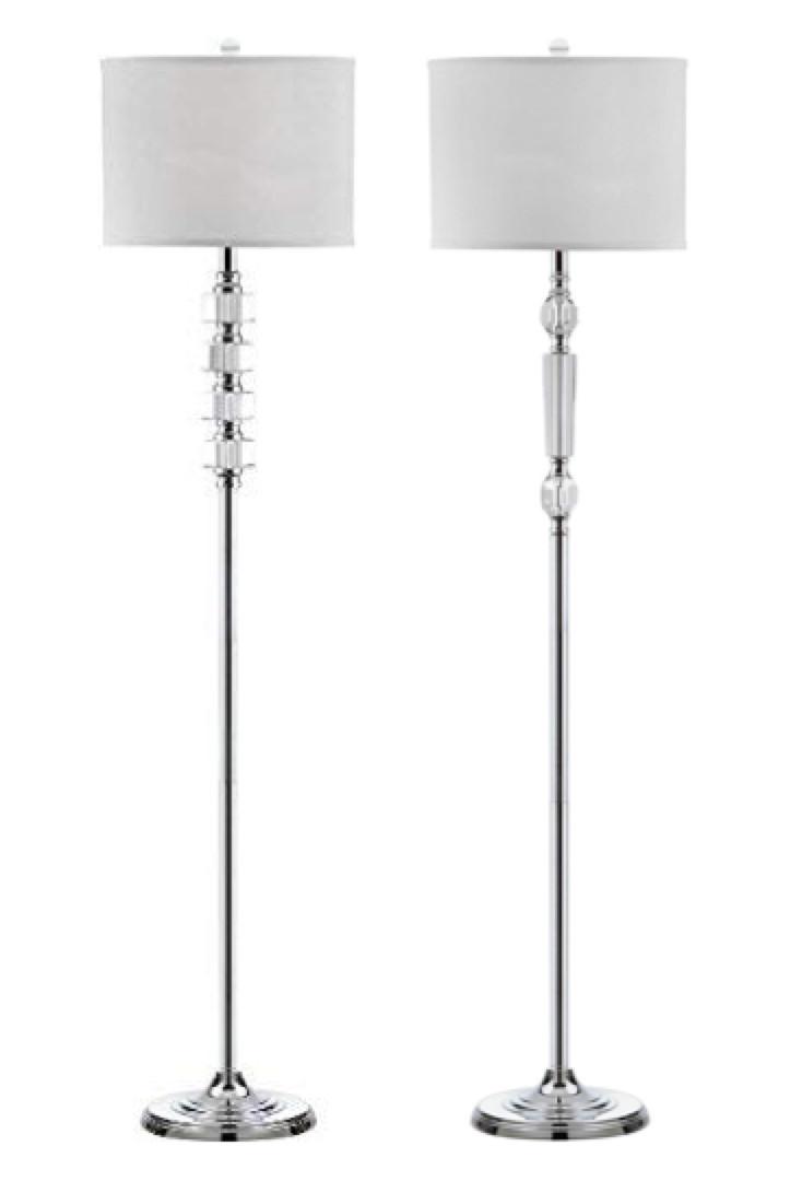 Safavieh Crystal & Chrome Floor Lamps
