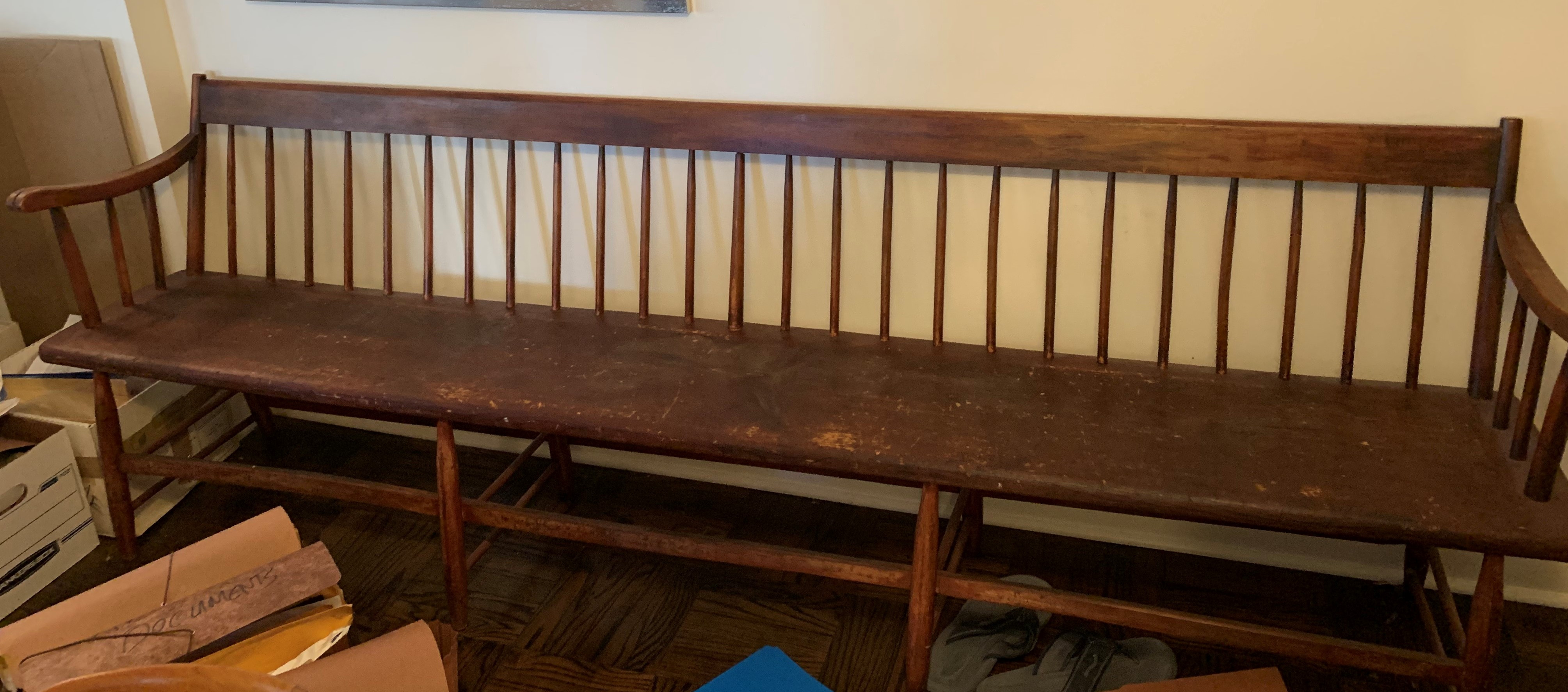 Shaker Style Wood Bench