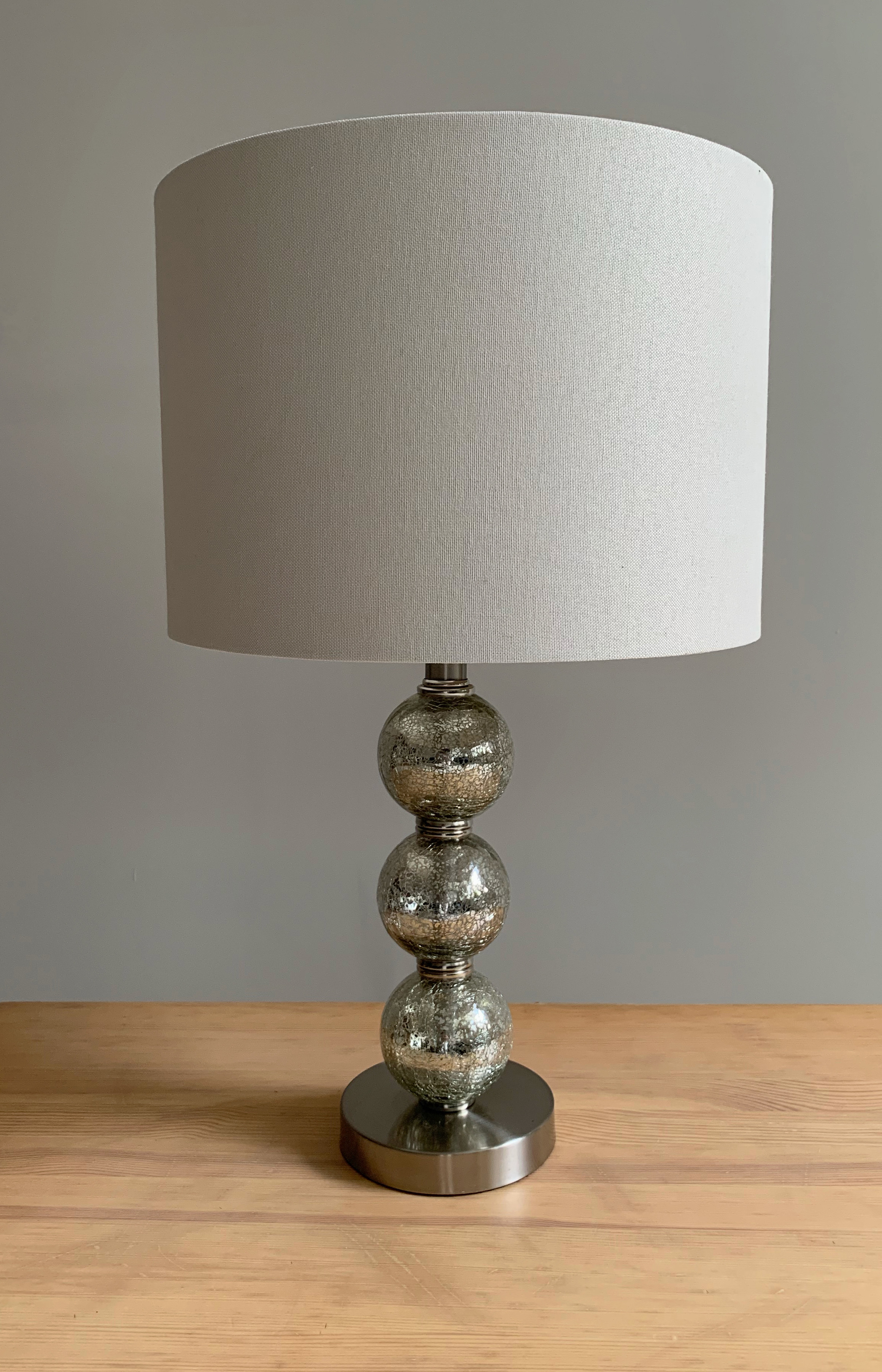 Mercury Glass Triple-Sphere Table Lamp