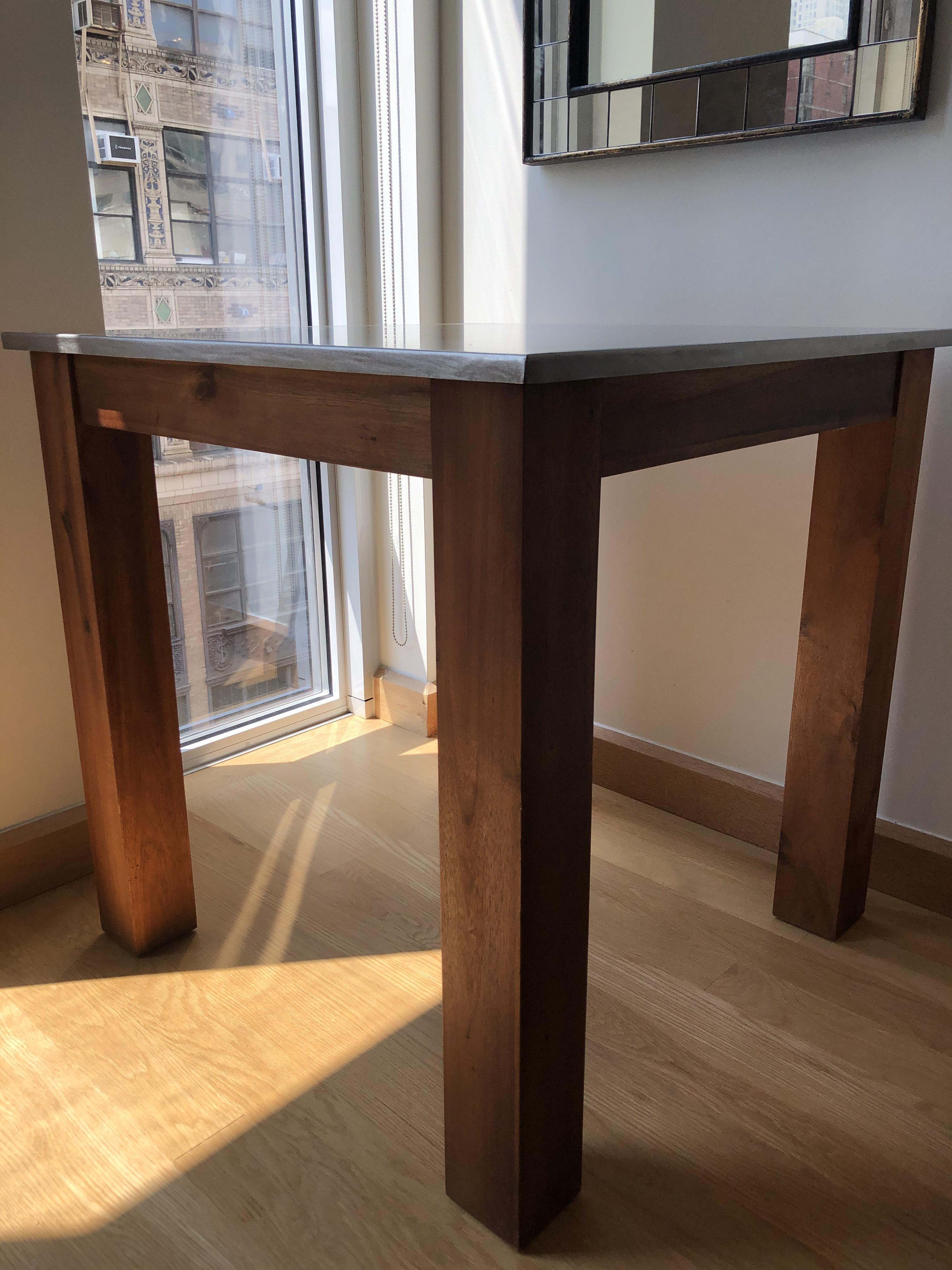 West Elm Wood/Metal Kitchen Table - AptDeco