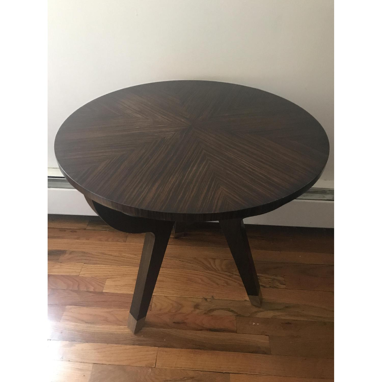 Theodore Alexander Round Dark Walnut End Table - image-1
