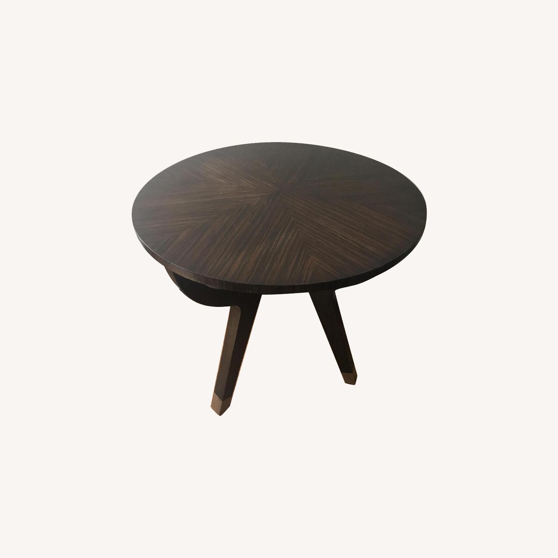 Theodore Alexander Round Dark Walnut End Table
