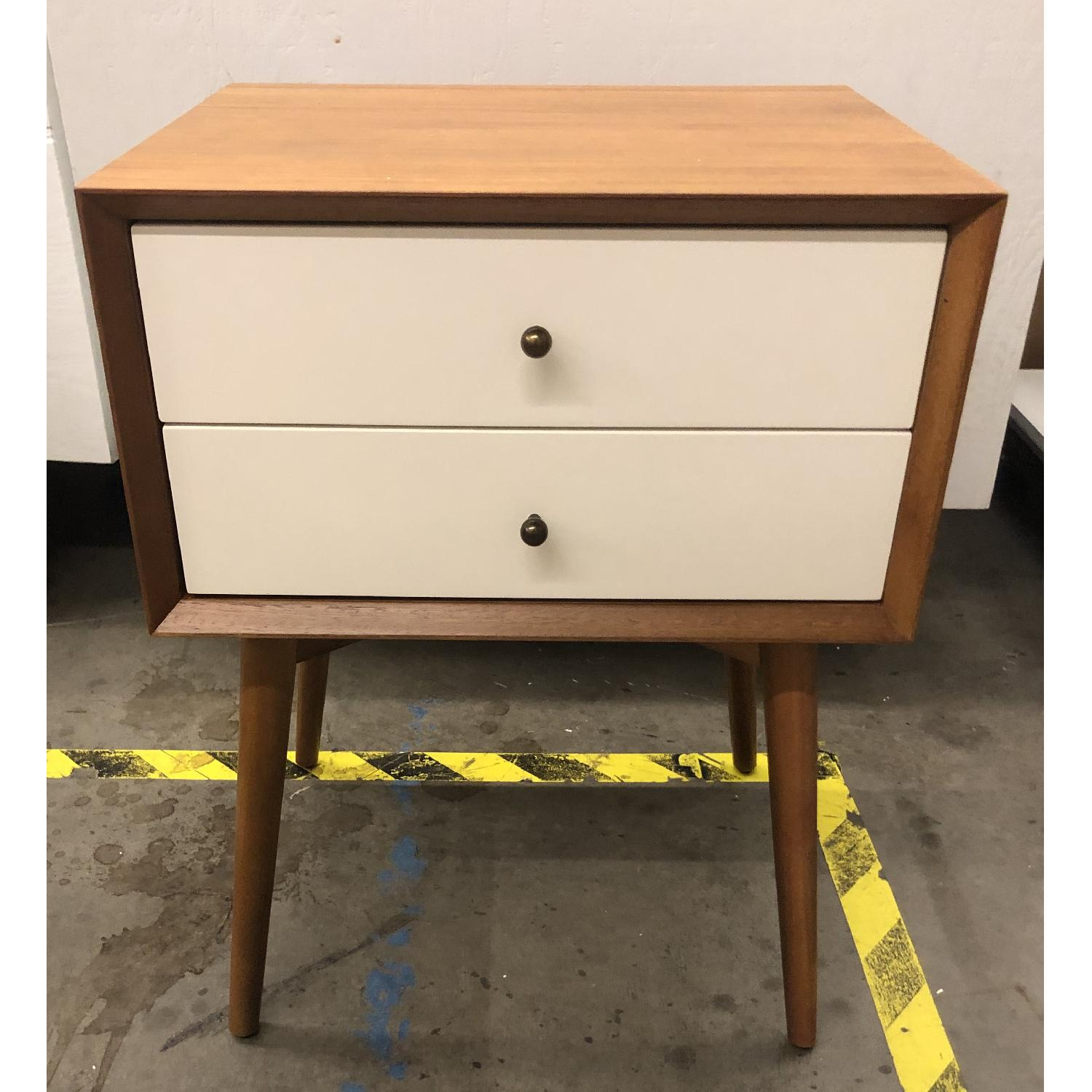 West Elm Mid Century Nightstand In White Lacquer Acorn