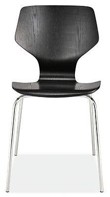 Room & Board Pike Black Side Chair w/ Metal Base