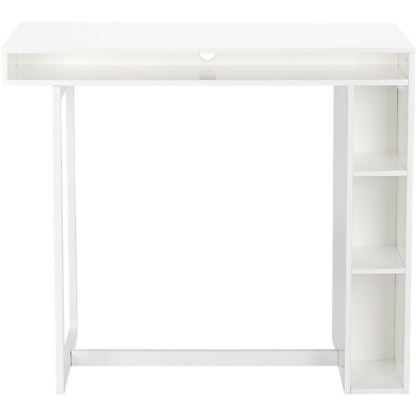 CB2 Public White High Dining Table/Desk