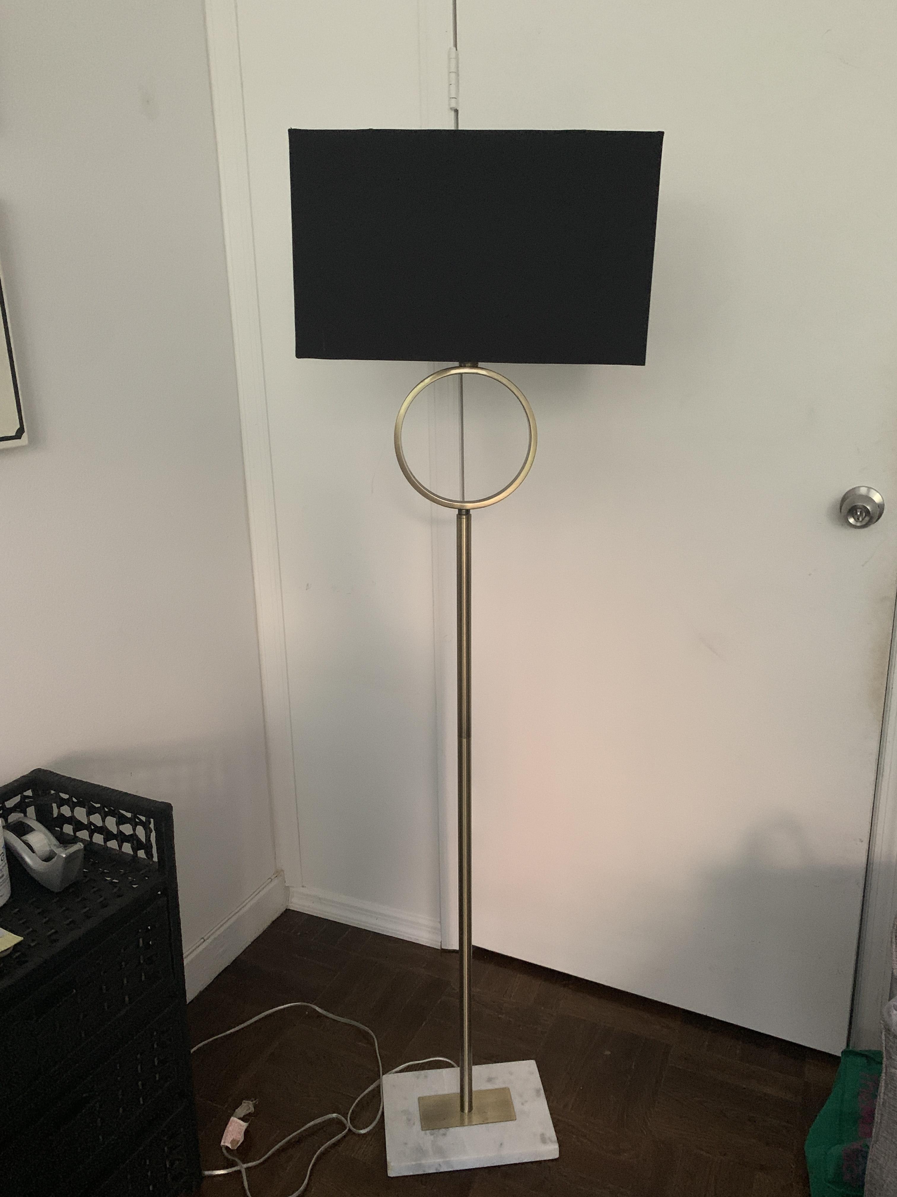 Black Rectangular Floor Lamp