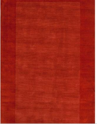 Bradley Handwoven Flatweave Wool Terra Cotta Area Rug