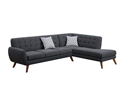 Bobkona Belinda L Shape Sectional Sofa