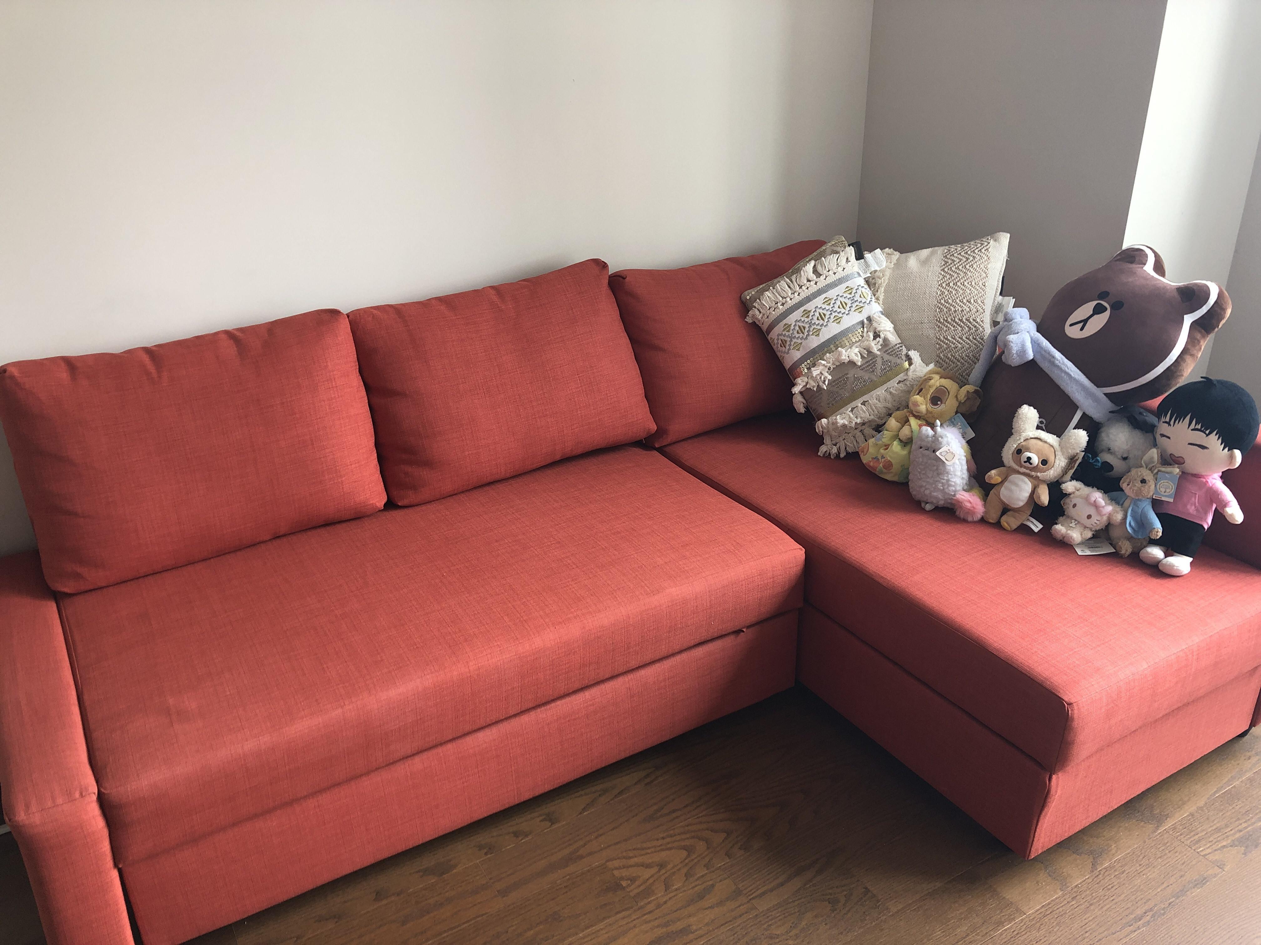 Ikea Friheten 3 Seat Sleeper Sectional Sofa w/ Storage - AptDeco