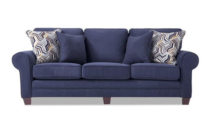 Bob's Gracie Navy Sofa + Chair & Ottoman