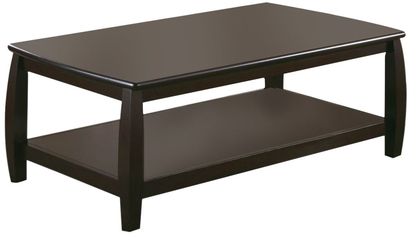 Classic Style Double-Shelf Coffee Table in Espresso Finish