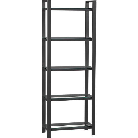 Crate & Barrel Black Shelving Unit