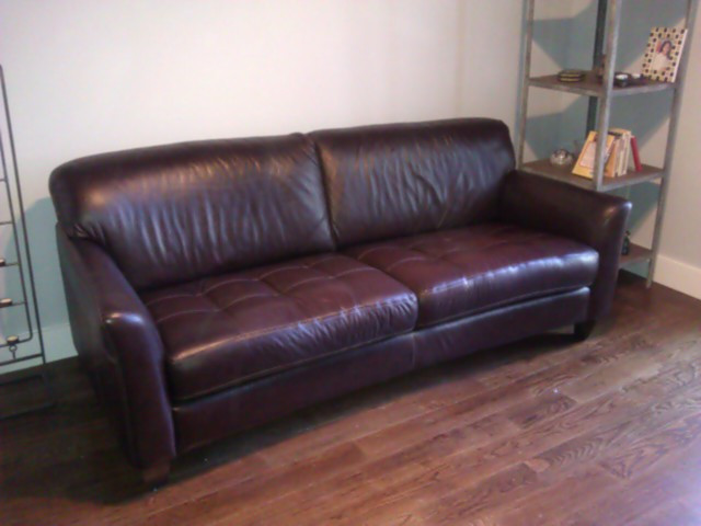 Macy's Leather Sofa