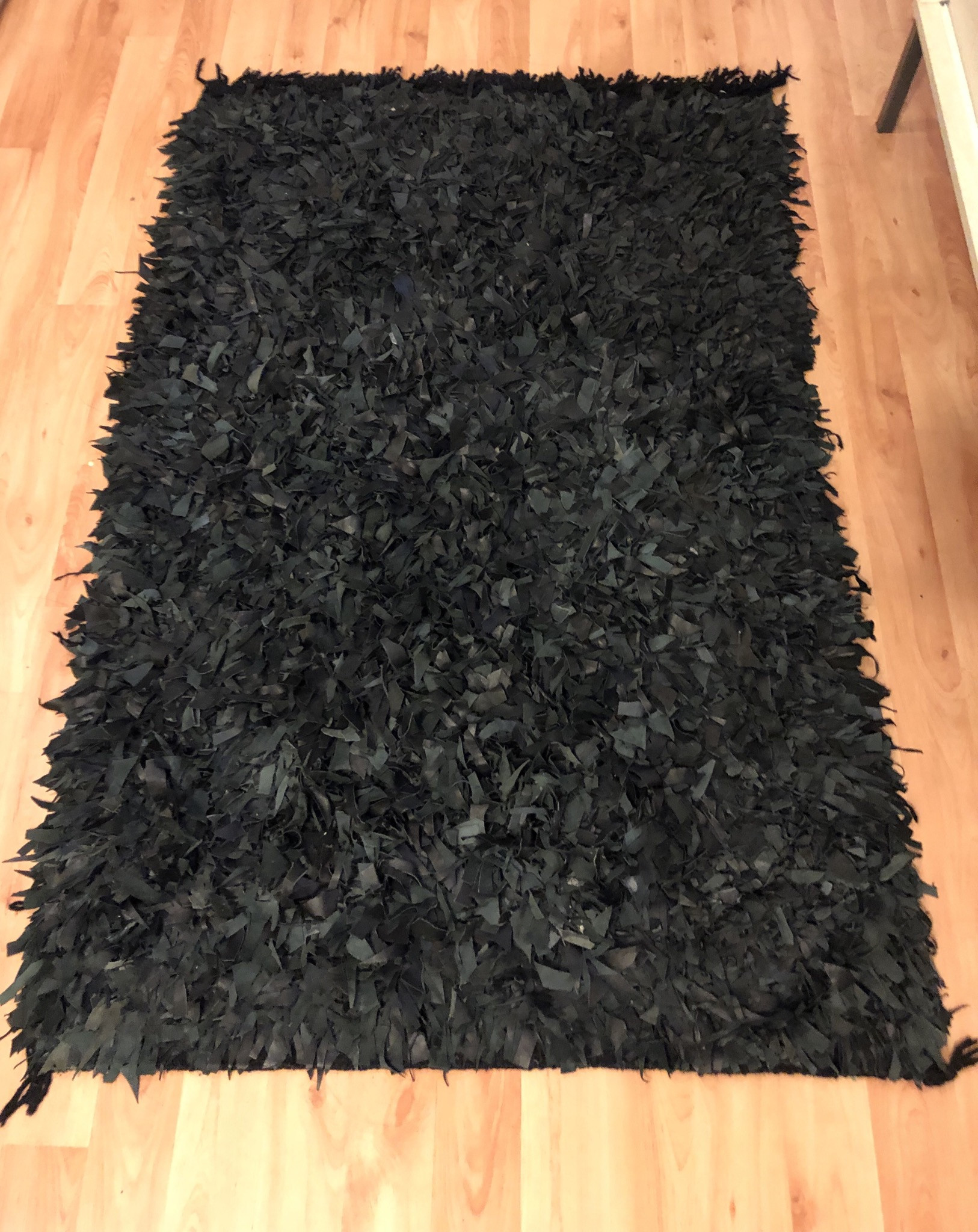 ABC Carpet and Home Leather Shag Rug