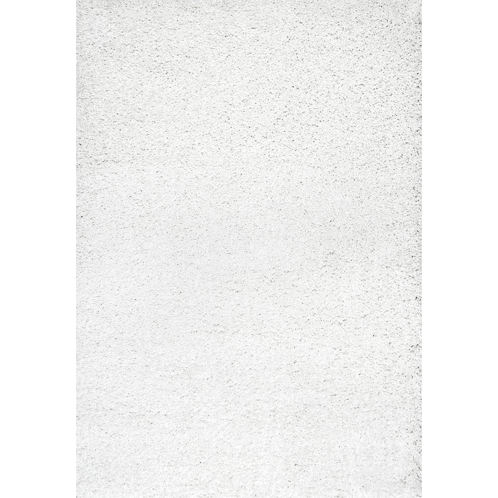 nuLOOM Boboshaggy White Area Rug