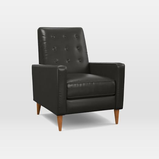 West Elm Rhys Mid-Century Leather Recliner
