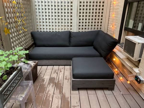 Restoration Hardware Costa Patio Sofa & Ottoman