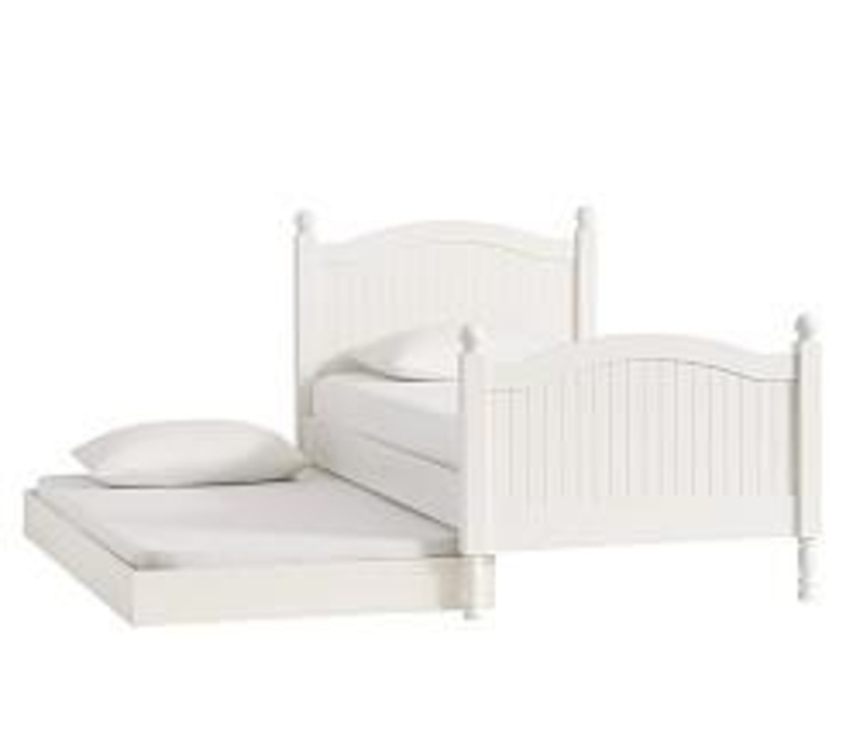Pottery Barn Catalina Simply White Twin Size Trundle Bed
