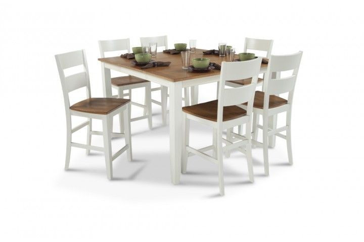 Bob's Blake Cherry & White 7-Piece Counter Height Dining Set