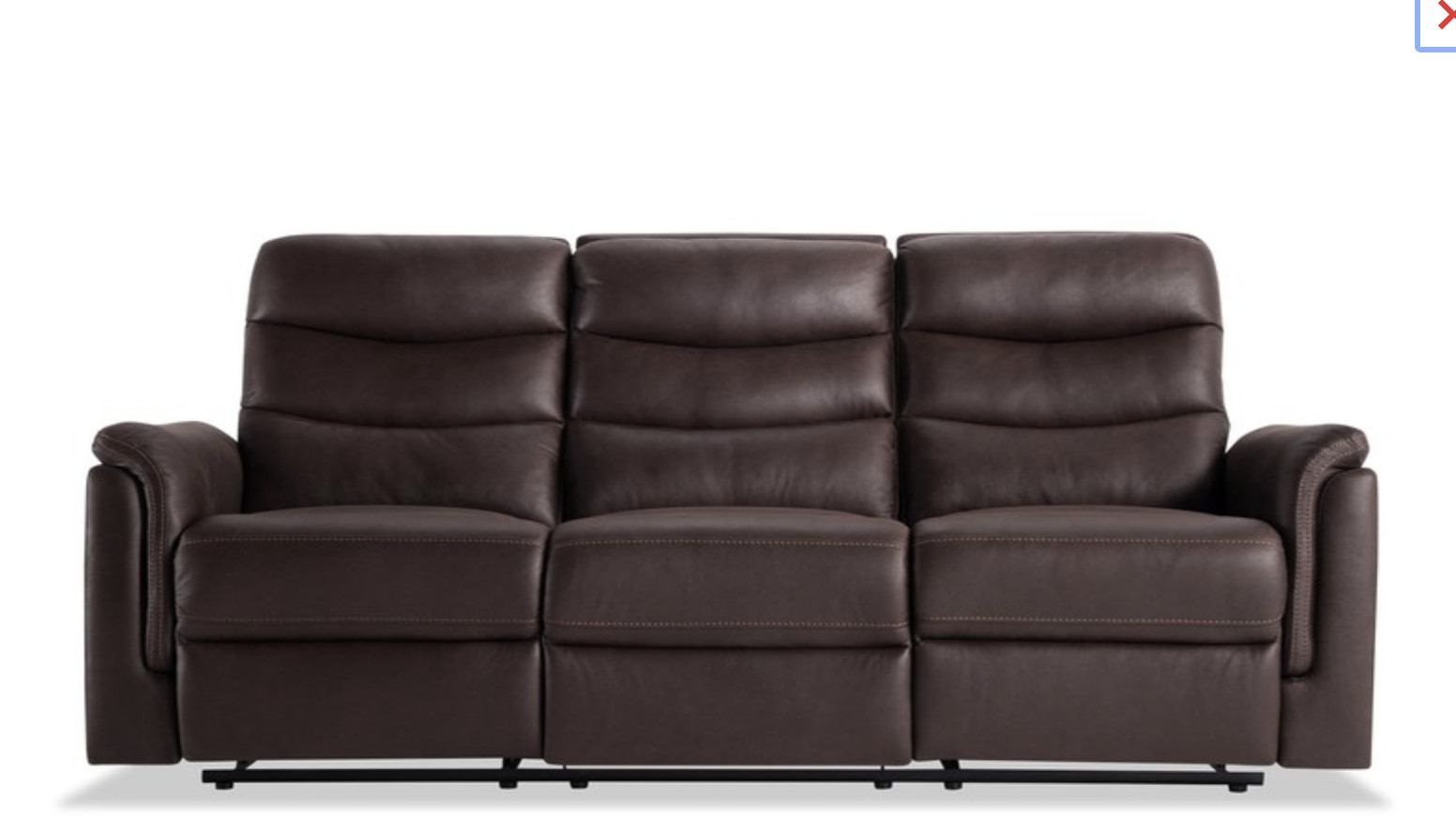 Bob's Brown Leather Reclining Sofa