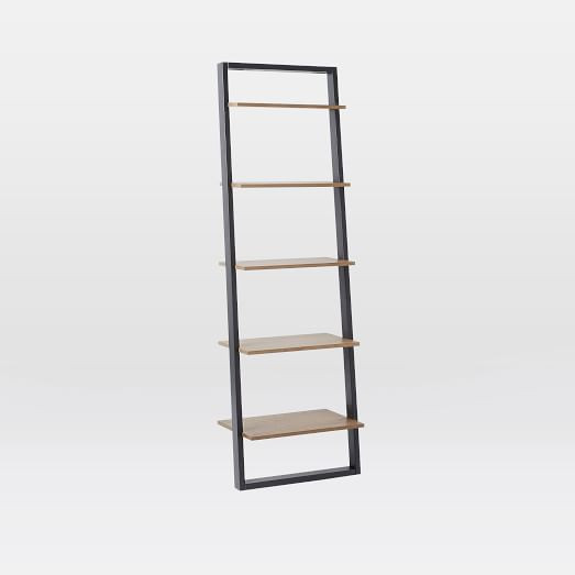 West Elm Ladder Wide Shelf Storage in Sand/Stone