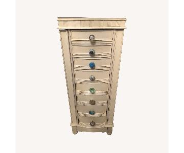 Antique White Jewelry Cabinet