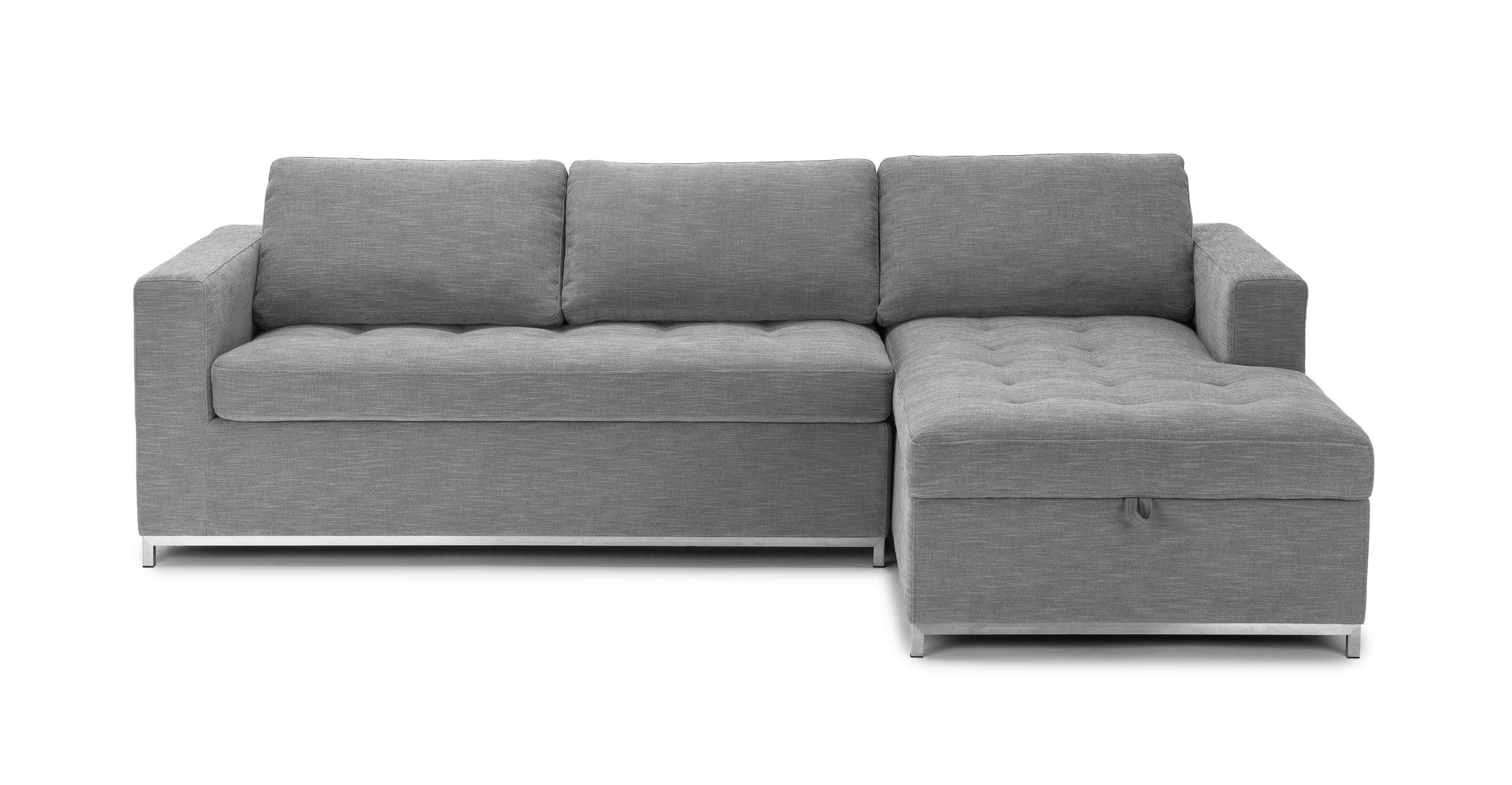 Article Soma Dawn Gray Right Sleeper Sectional Sofa