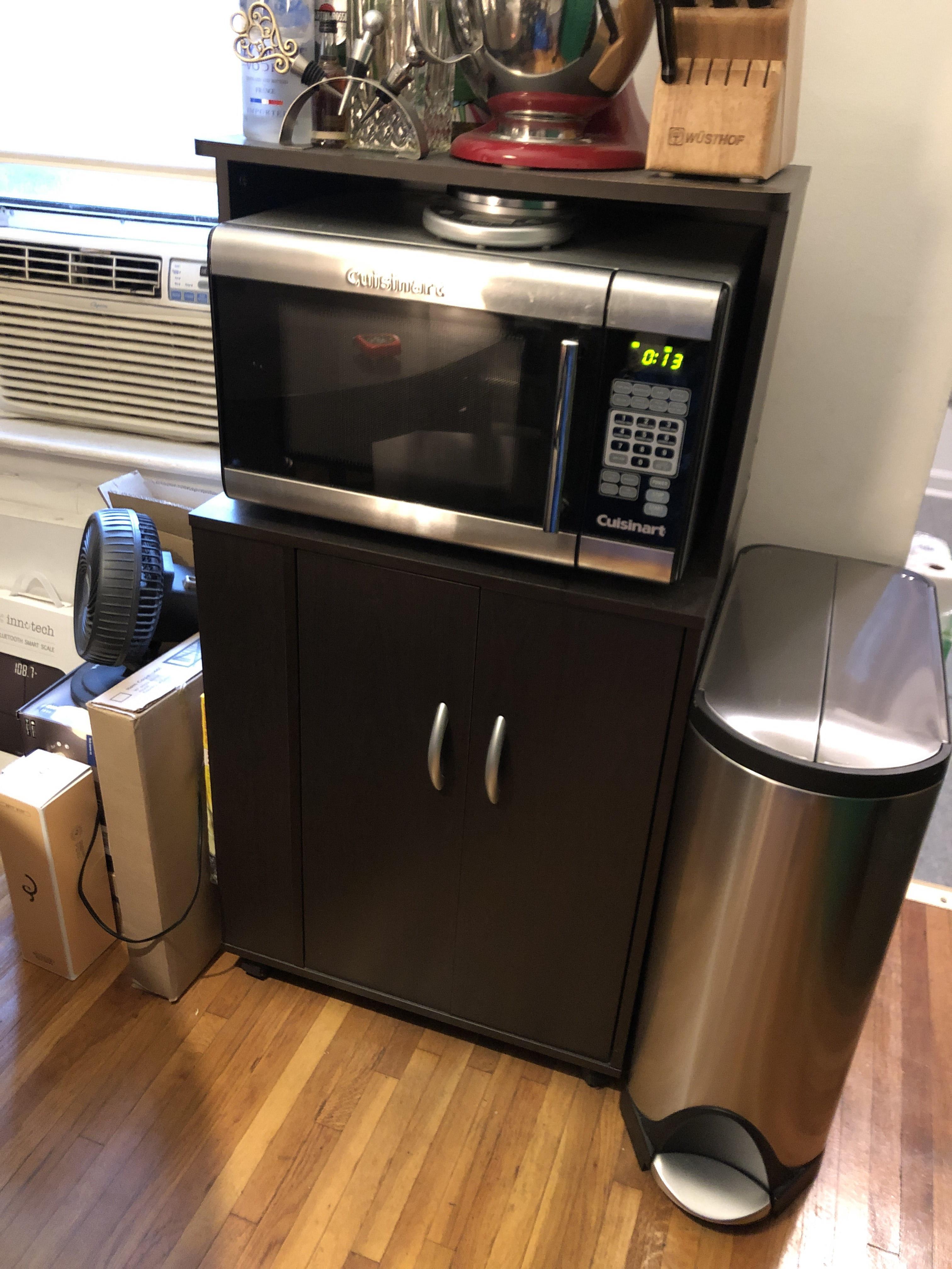 Modern Sideboard/Microwave Cart