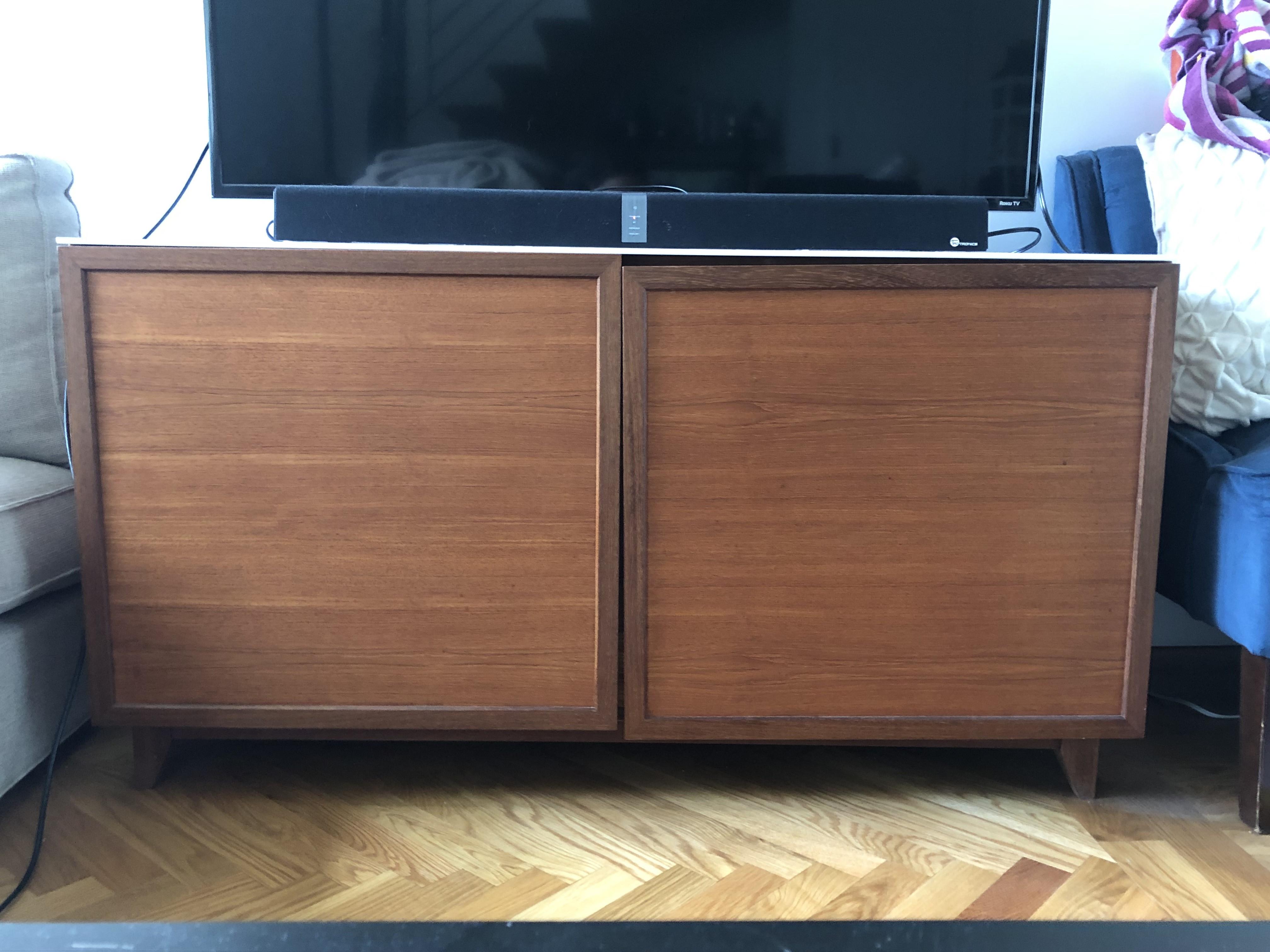 Mid Century Style Hardwood Sideboard/Credenza