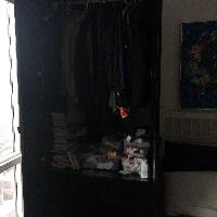 Ikea Pax Armoire with Coat Rack and Three Drawers