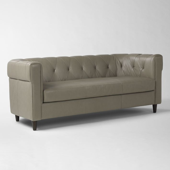 West Elm Grey Chesterfield Sofa