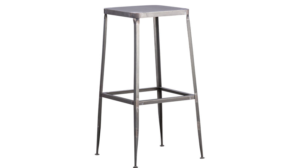 CB2 Flint Steel Bar Stool
