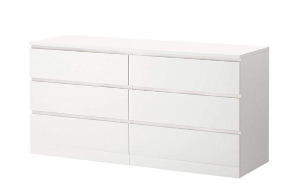 Ikea Malm White 6-Drawer Dresser