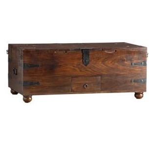 Crate & Barrel Taka Trunk Coffee Table