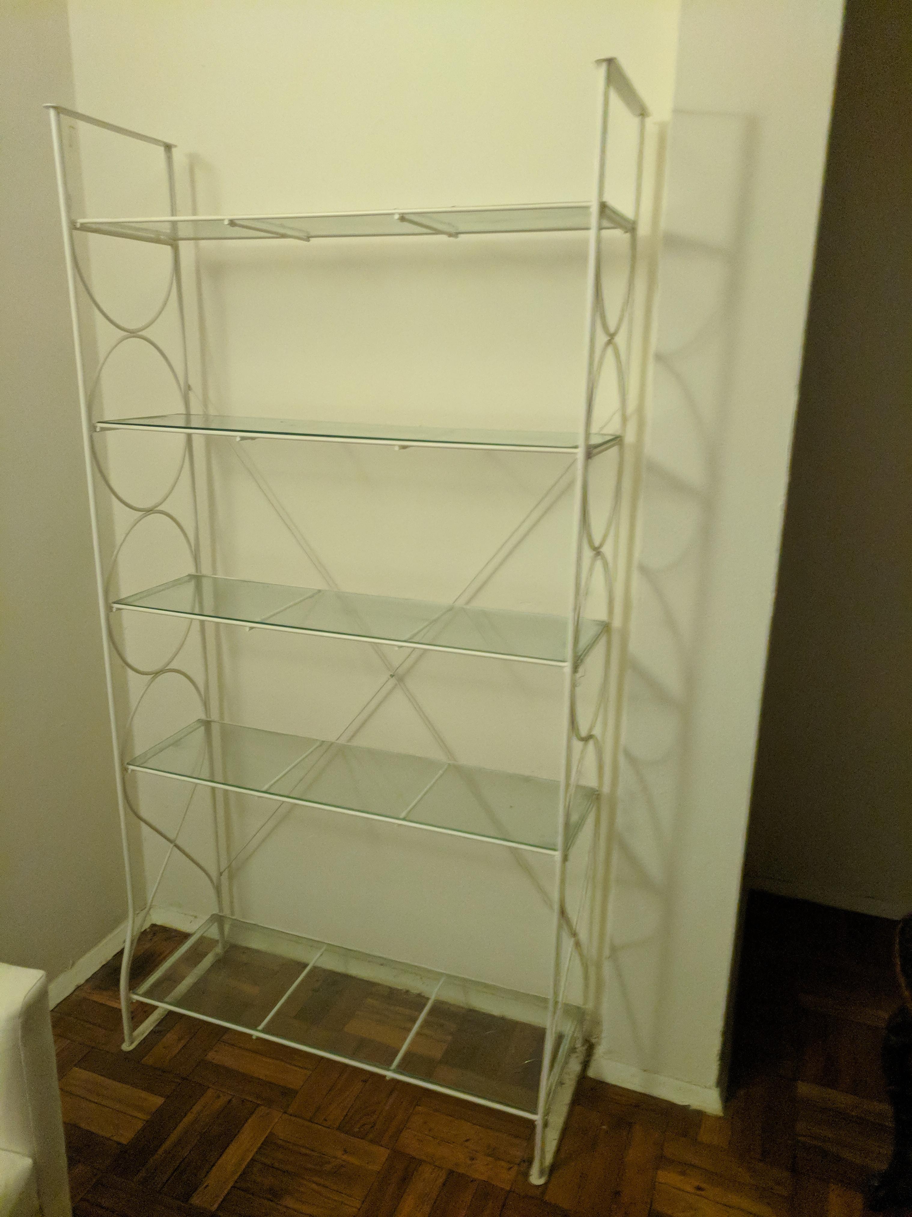 Ikea White & Glass Shelving Unit