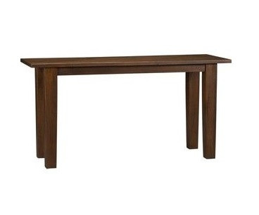 Crate & Barrel Basque Honey Wood Console Table