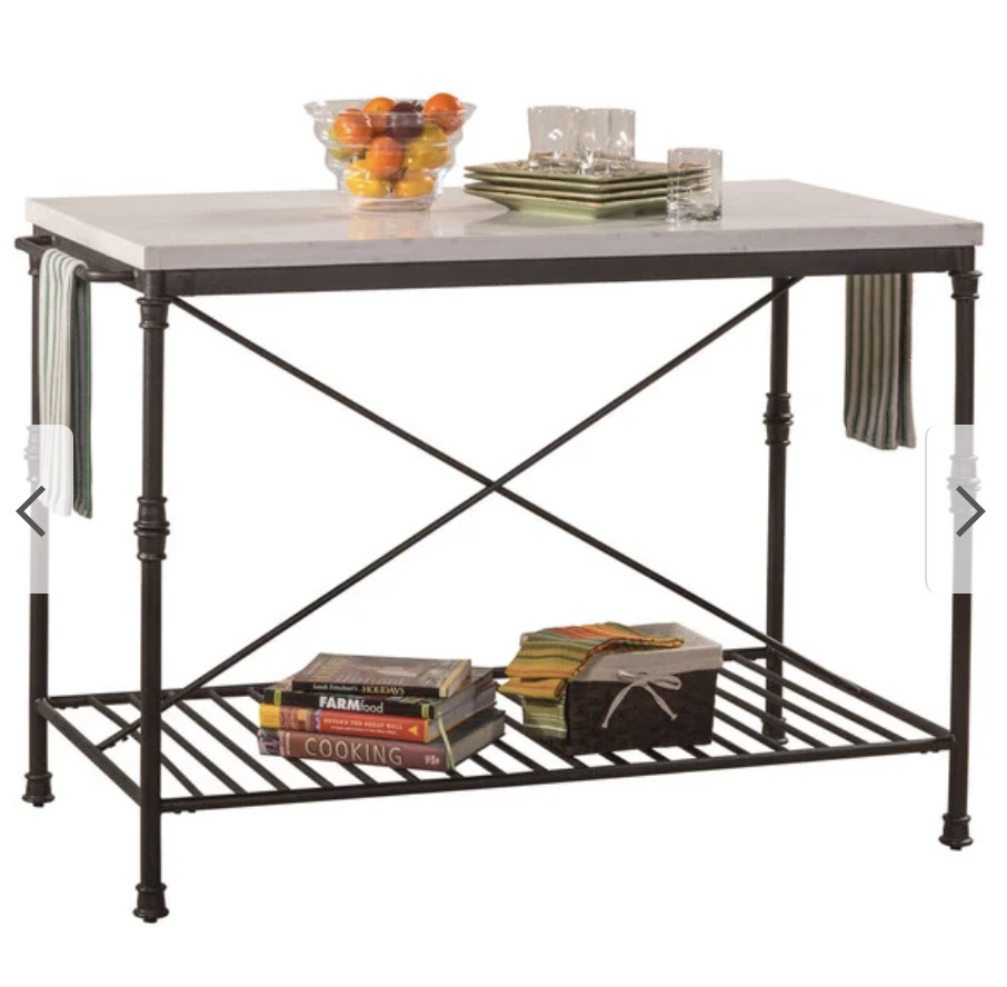 Carbon Loft Free Standing Counter Height Kitchen Island