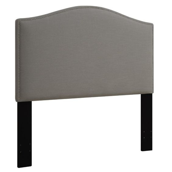 Mercury Row Zoe Ash Upholstered Panel Queen/Full Headboard