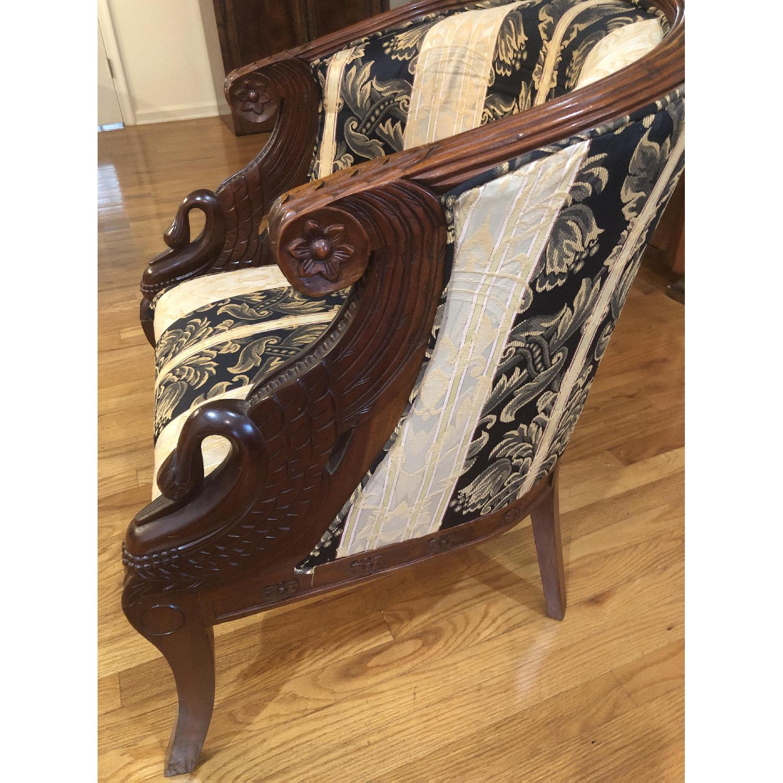 Damask Club Chairs