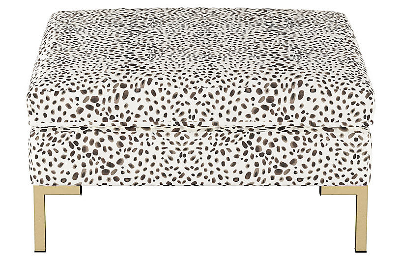 One Kings Lane Spotted Ottoman
