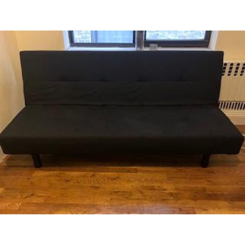 Cool Ikea Balkarp Sleeper Sofa In Knisa Black Aptdeco Andrewgaddart Wooden Chair Designs For Living Room Andrewgaddartcom