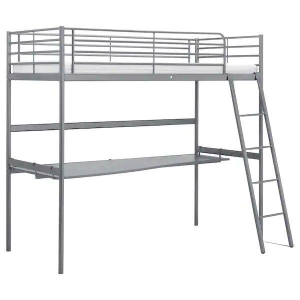 Ikea Twin Size Loft Bed w/ Desk & Chair