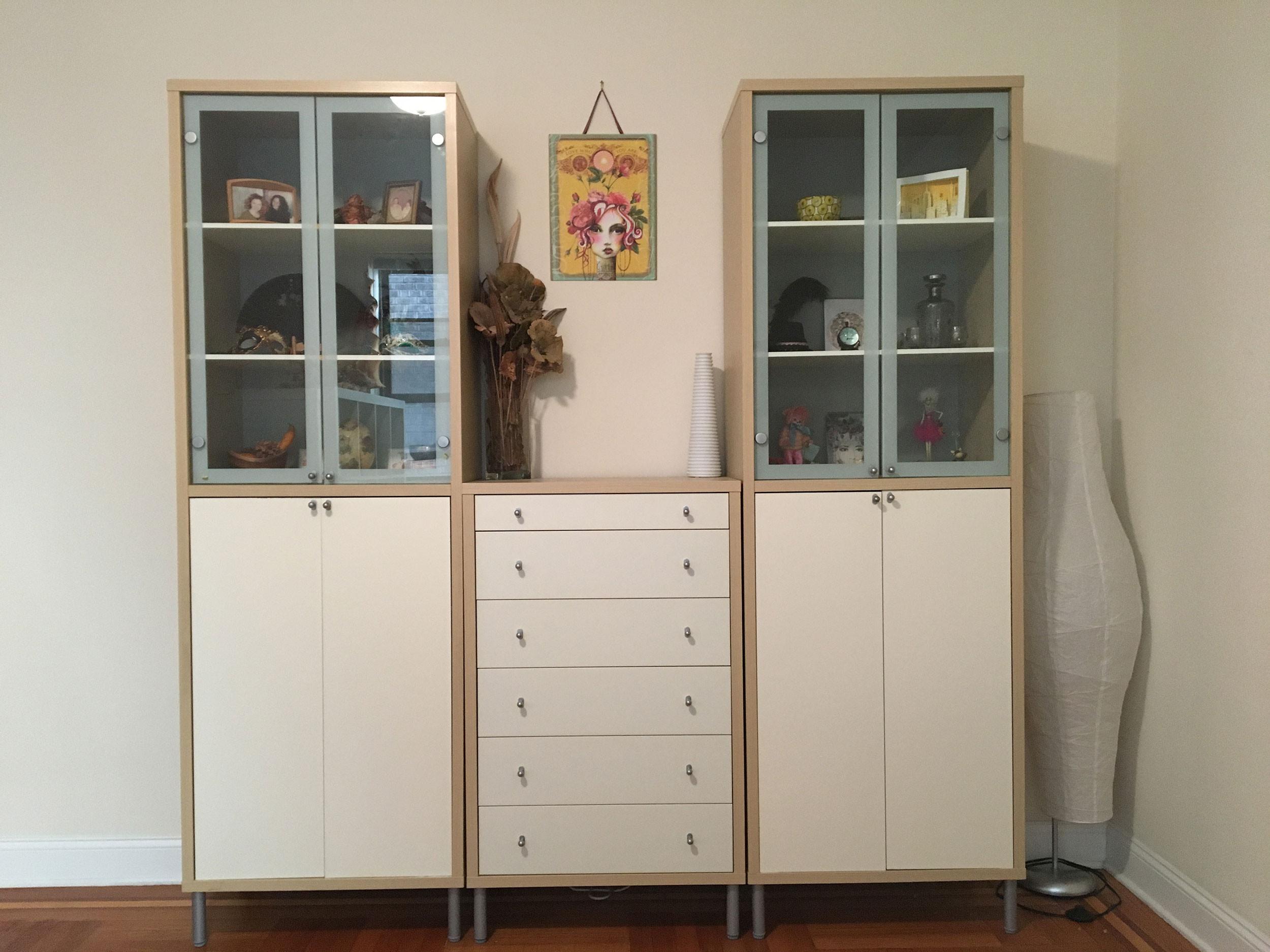 Ikea Magiker Tall Cabinets w/ Dresser